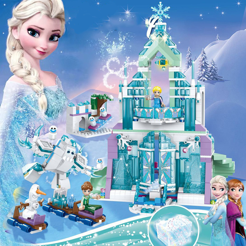 Alan dale Legoing Friend House For Girl City Ice Castle Movie Let It Go Snow Queen Anna Princess Figures Set Building Blocks Toy