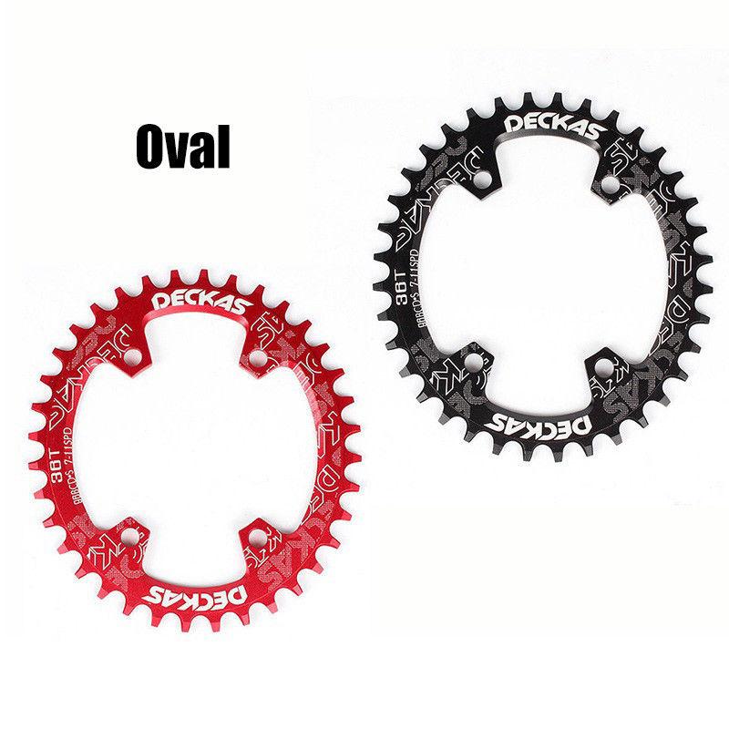 DECKAS Chainring 96BCD-S Narrow Wide MTB Chain Ring MTB Road Bicycle RoundOval Chainwheel 32-38T Fit SHIMANO XTR,XT,SLX (6)