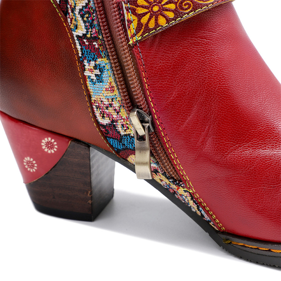 D Knight Luxury Boots Shoes Woman Retro Genuine Leather Casual Women's Knee High Boot Handmade Ethnic Female Western Cowboy Boot (3)