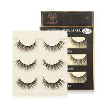 Extension Eyelash Mink-Lashes Beauty-Tool Long-Makeup Natural 3-Pairs Maquiagem 3d