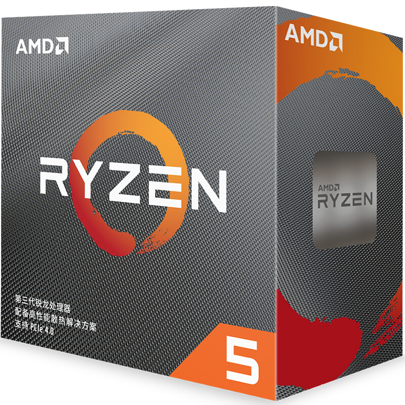 AMD CPU Processor R5 AM4 Six-Core 3600-3.6 Twelve-Thread Ghz New with Fan L3--32m 100-000000031-Socket title=