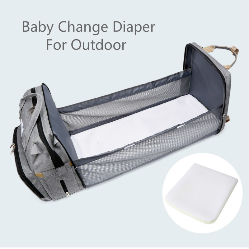 Travel Diaper Changing Backpack with Bed 7