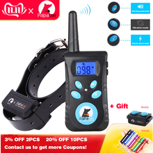 Pet-Dog Electric-Shock-Collar Bark Training Remote Automatic Two-In-One 1500-Ft