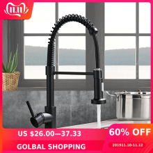 Mixer Tap Faucet Nozzle Deck-Mounted Stream-Sprayer Kitchen-Sink Cold-Taps Rotation Matte