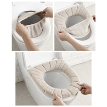 Case Lid-Cover Closestool-Mat Seat Velvet Bathroom Comfortable Coral Winter Household