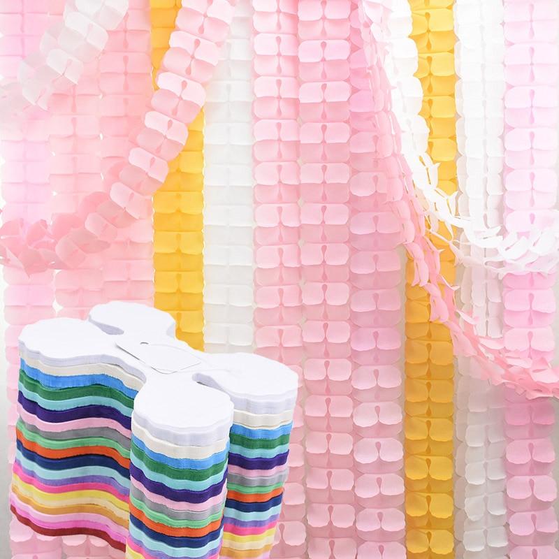 3.6M Tissue Paper Flower Garland DIY Handmade Four Leaf Clover Flower Garland for Wedding Birthday Baby Shower Party Decoration