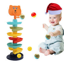 Rolling Ball Pile Rattles Tower Puzzle Babys Toys Spin Track Montessori Educational Newborn Toys For Kids 1 & Hobbies