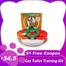 Litter-Box Training-Kit Cat Toilet Cats-Trainer Pet-Cleaning-Training-Products