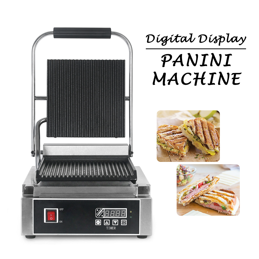 2019 3.6kW Commercial Electric Double Heads Contact Panini Grill CE Approve