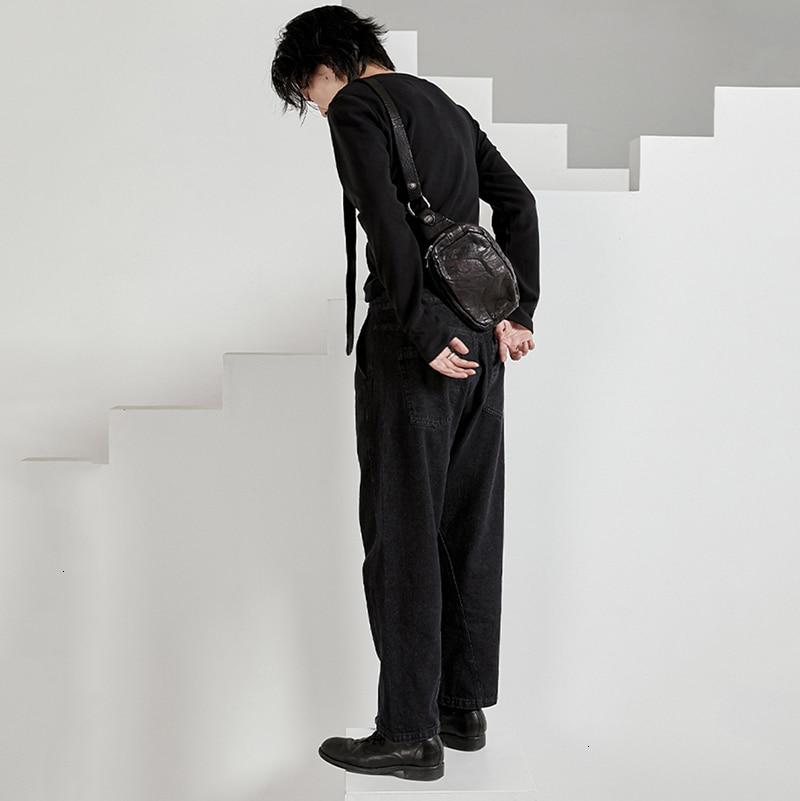 Black Leisure Split Long Wide Leg Jeans New High Waist Loose Women Trousers Fashion Tide Spring Autumn 2020