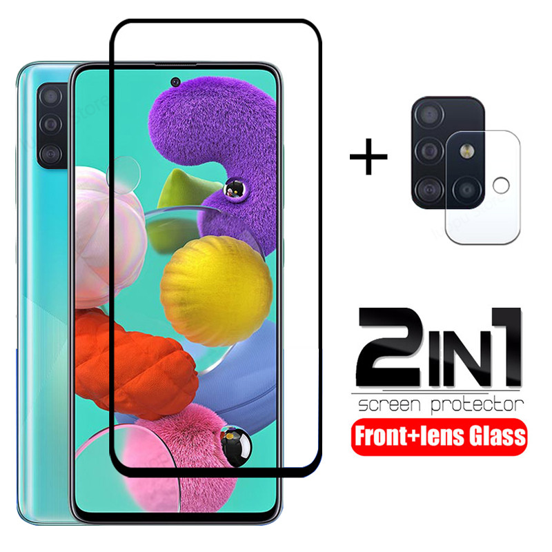 Tempered-Glass Screen-Protector Camera-Lens A71 A51 Samsung for Sm-A515f/sm-A715f 2-In-1 title=