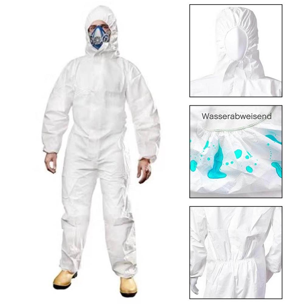 HOT !!!  Protective clothing isolator heat seal to prevent virus staff numbers consistent white