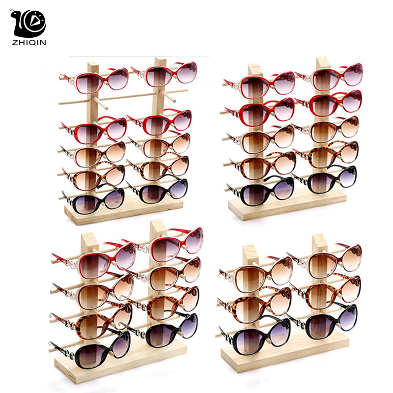 White Wooden Sunglasses Eye Glasses Rack Display Stand Holder 3//4//5//6-Layer