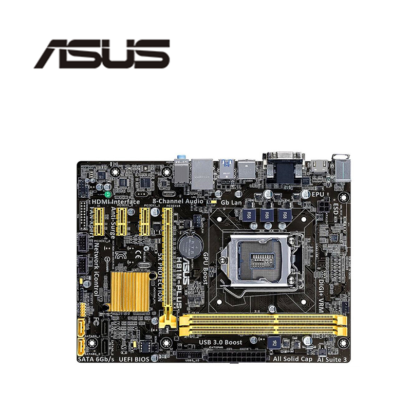 Asus Desktop Motherboard SATA3 H81 I5 I3 Ddr3 Core I7 LGA1150 H81M-PLUS Used for USB3.0 title=