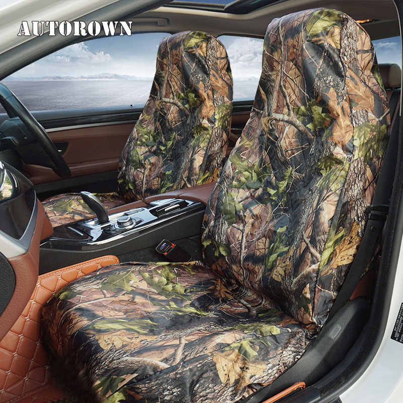 AUTOROWN Hunting Camouflage Car Seat Covers For Jeep Honda Nissan Kia Volvo Auto Seat Cover For Fishing Interior Accessories