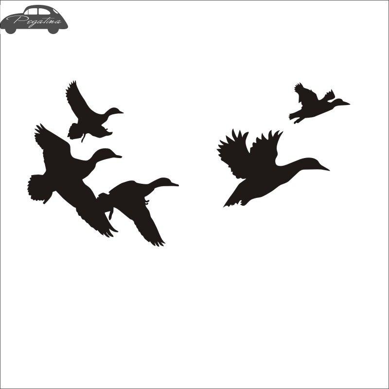 Pegatina Hunt Duck Sticker Hunter Club Decal Gun Shop Hollow Hunting Car Window Vinyl Decal Funny Poster