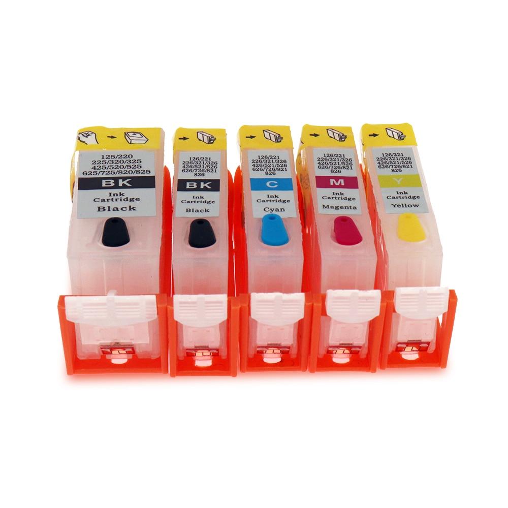 MP988 Refillable Cartridges w Auto Reset Chips CLI 221 PGI 220 MP980  MP990