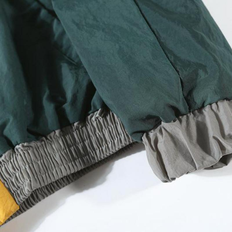 2019 Vintage Multicolor Color Block Patchwork Windbreaker Jackets Autumn Hip Hop Streetwear Zip Up Track Casual Jackets