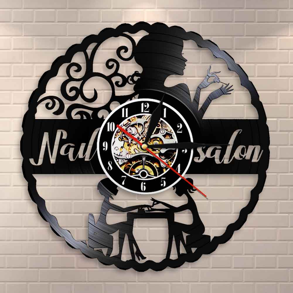 Creative Nail Salon Sign Decals Window Sticker Nails Art Studio Bar Wall Decor D