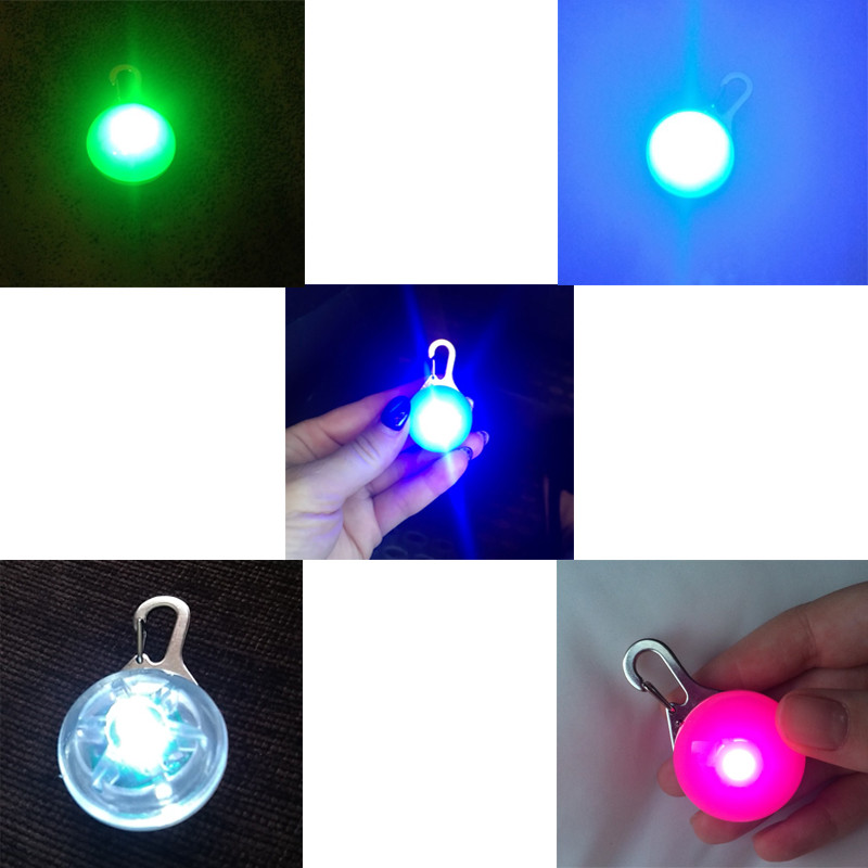 Pet Night Safety LED Flashlight Cat Dog Collar Leads Lights Glowing Pendant Necklace Pet Luminous Bright Glowing Collar in Dark1