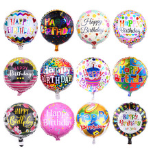 Toy Balloons Party-Decoration Globos Happy-Birthday-Foil 18inch Round Aluminium High-Quality