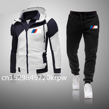 Tracksuit Pants Sweatshirt Hooded Smile Bmw Jacket Sporting Men for 2pieces 2pieces