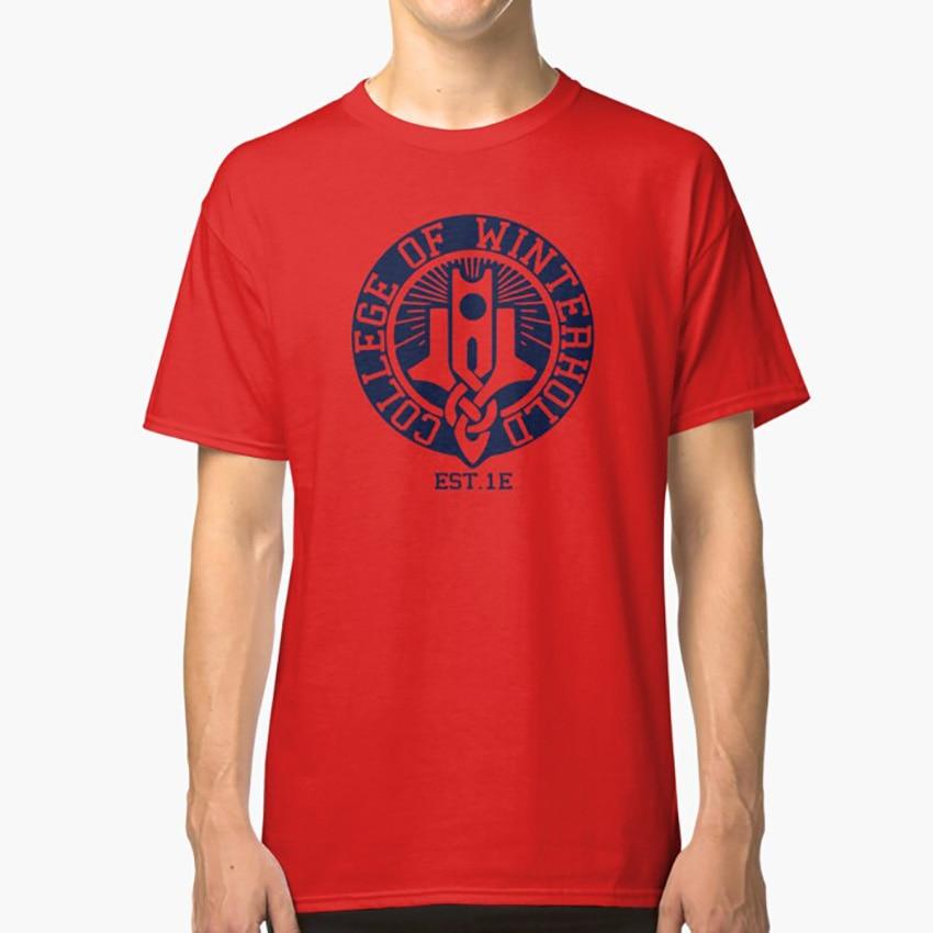 College of Winterhold T Shirt skyrim Fanshirt Dragonborn Logo Fan tamriel