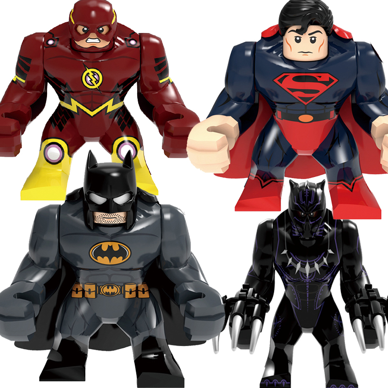 Legoing Marvel Sets Batman Spiderman Thanos Black Panther The Flash Hulk Marvel Action Figures Toys Super heroes Avengers Blocks