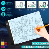 A4 Stepless Dimmable Adjustable LED Drawing Tablet Copy Board LED Light Painting Pad Graphics Artist Thin Art Stencil Drawing