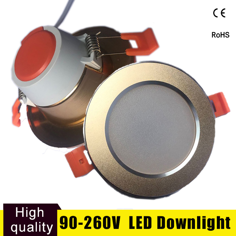 Focos Led Techo Led Downlight Spot Light 15W 12W 9W 5W 3W Round Recessed Lamp 220V 230V 240V Bedroom Kitchen Ceiling Lamps