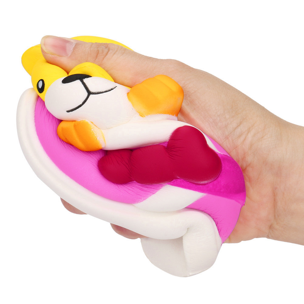 Cute Boots Dog Slow Rising Squeeze Stress Reliever Toy Soft Squeeze Fun Slow rebound toy Anti-anxiety Pressure relief Toy #B