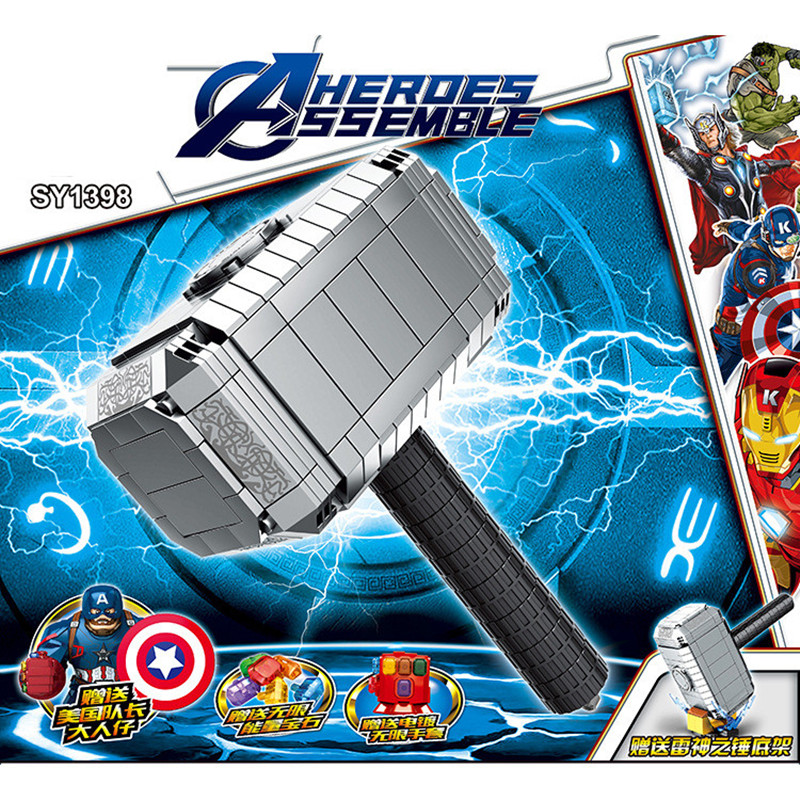 2019-Building-Block-Super-Heroes-Bricks-Weapon-Mjolnir-Stormbreaker-Infinity-Gauntlet-Figures-for-Children-Toys-Christmas