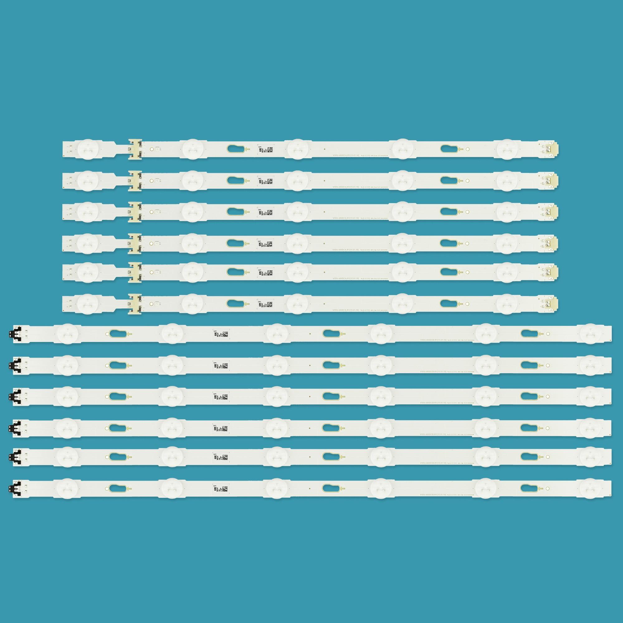 New kit 12pcs LED backlight strip for Samsung UE48JU6060 V5DU-480DCA-R1 V5DU-480DCB-R1 BN96-34793A BN96-34794A UE48JU6400K