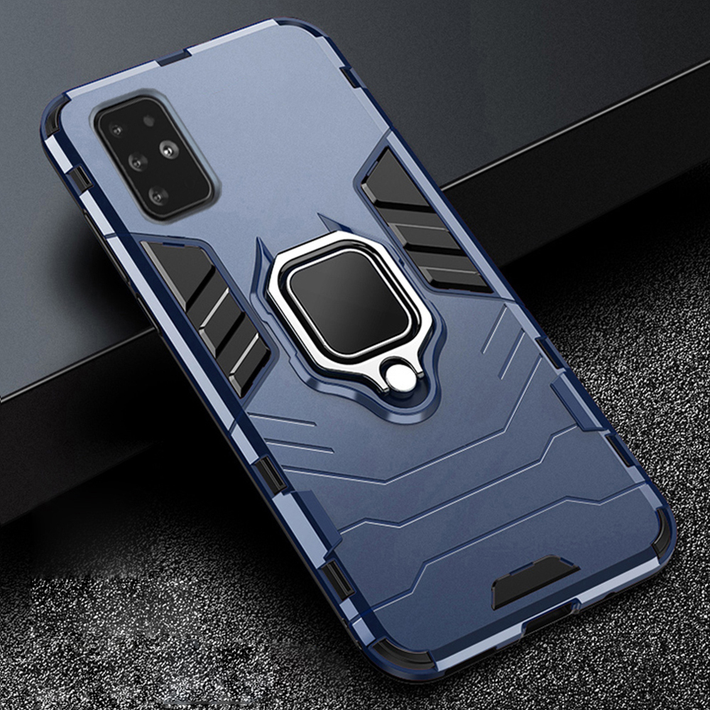 For-Samsung-Galaxy-A51-A-51-Case-Armor-PC-Cover-Metal-Ring-Holder-Phone-Case-For