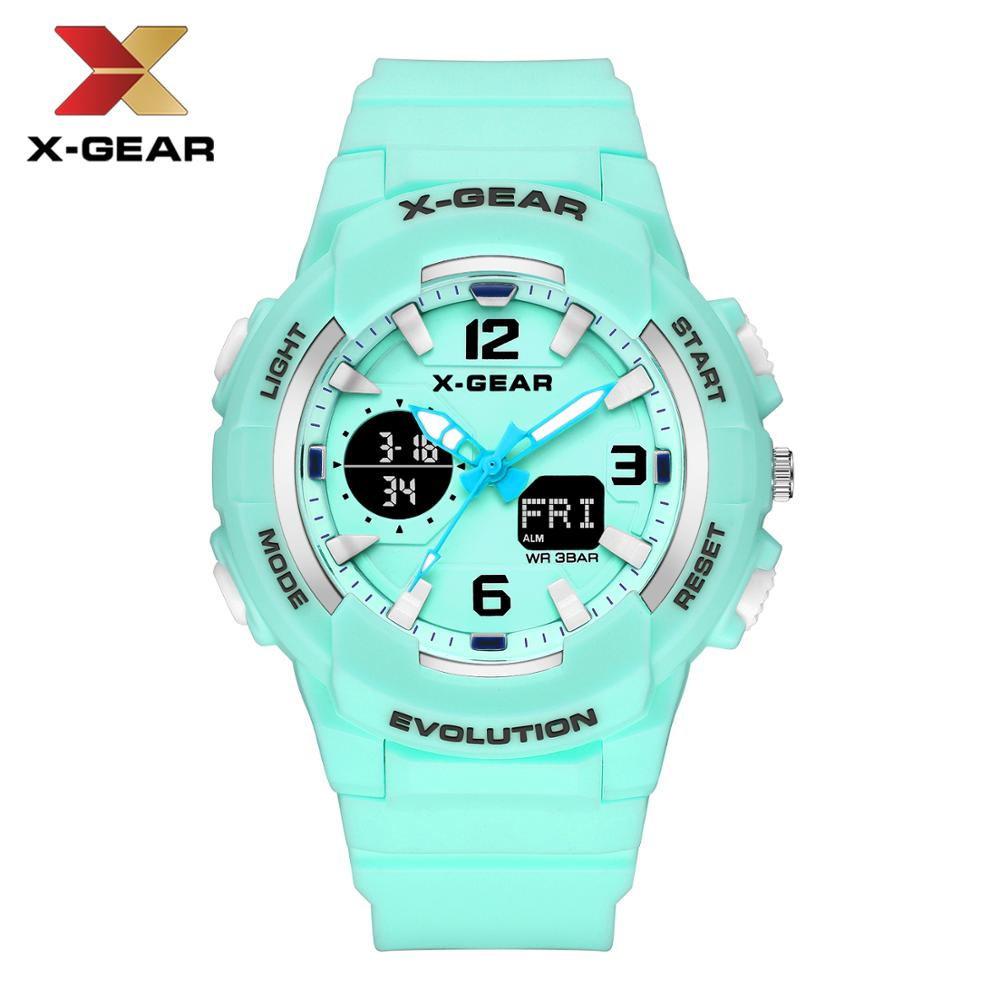 X-GEAR Brand Fashion Women Sports Watches LED Digital Quartz Clock Man Watch Boy Girl Student Multifunctional Wristwatch title=