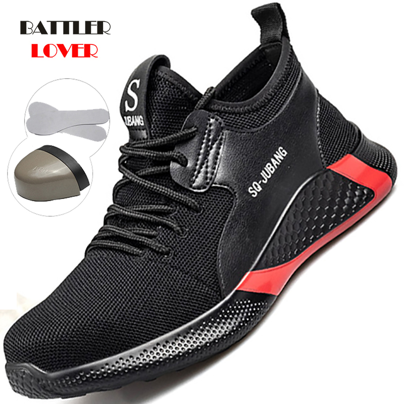 Indestructible Shoes Men Safety Work Shoes with Steel Toe Cap Puncture-Proof Boots Lightweight Breathable Sneakers Drop shipping
