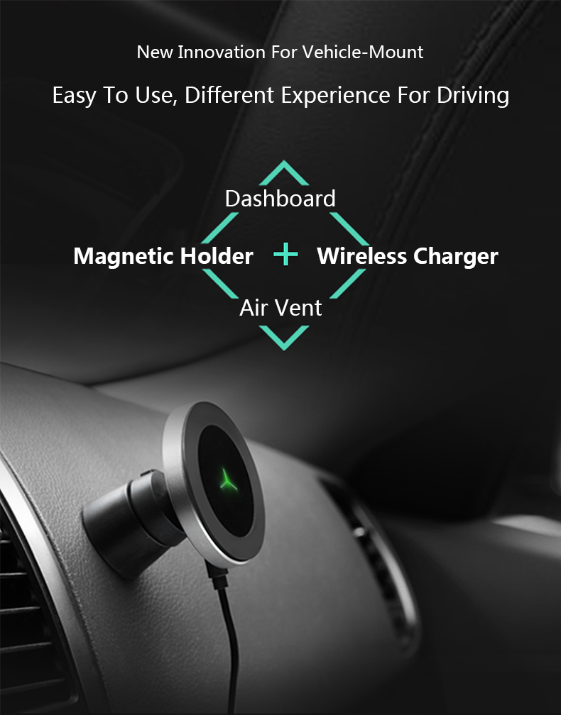 360 Degree Rotation Car Phone Wireless Charger For Samsung S8 S8 Plus S7 Edge Dashboard Wireless Charger Stands Air Vent Holder (4)
