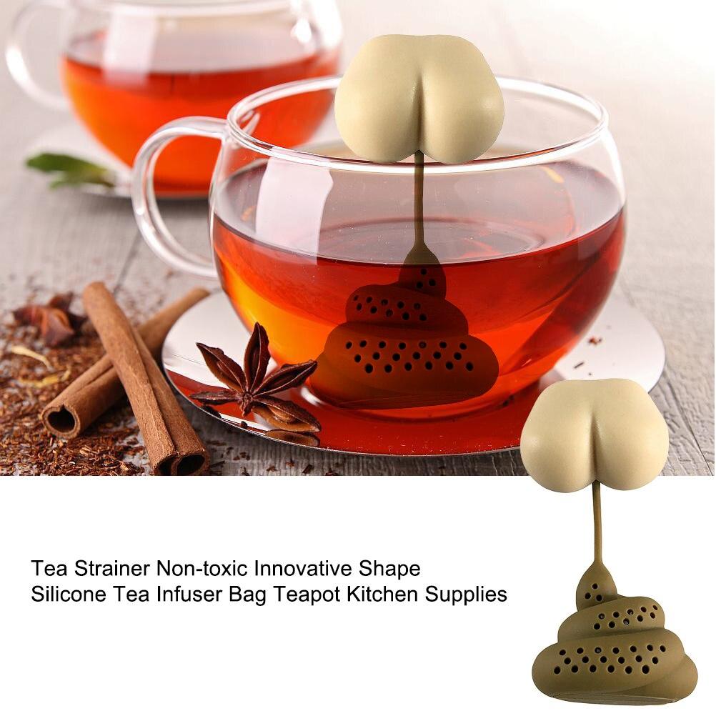 Globaldeal Direct Tee-Ei aus Silikon wiederverwendbarer Sieb gr/ün Design: niedliche Eule perforierter Filter