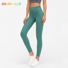 Colorvalue Sport Leggings Yoga-Tights Gym Fitness Classical Workout Naked-Feel Squatproof