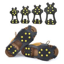 Ice Climbing Shoes-Cover Cleats Crampons Ice-Grips Anti-Skid Snow Winter S-Xxl-10 1-Pair
