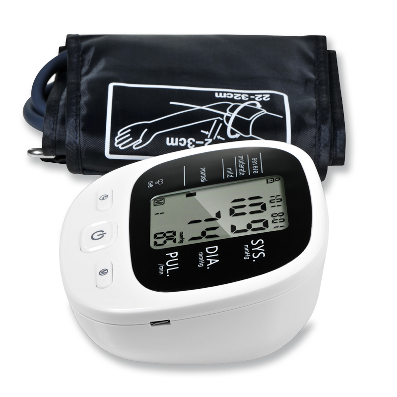 Automatic Digital Upper Arm <font><b>Blood</b></font> <font><b>Pressure</b></font> Monitor Beat Rate Pulse Tonometer