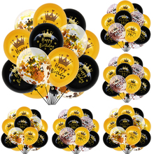15pcs/set Black Gold Latex Balloons 18 30 50 Happy Birthday Party Confetti Balloons Adult Birthday Ballons Decorations Supplies