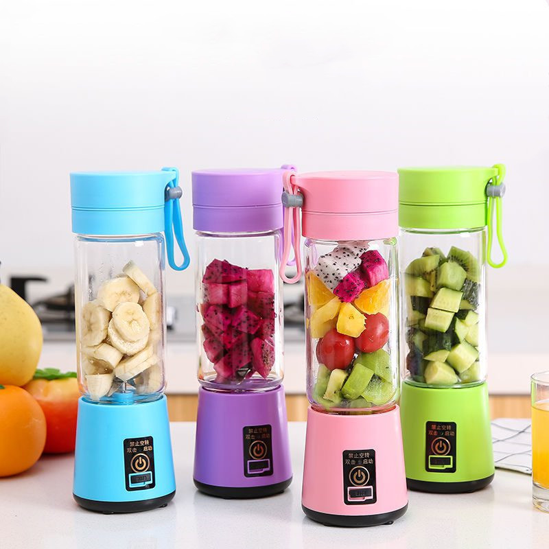 Blender-Machine Fruit-Juicer Smoothie-Maker 380ml Sports-Bottle Electric Mini Rechargeable title=