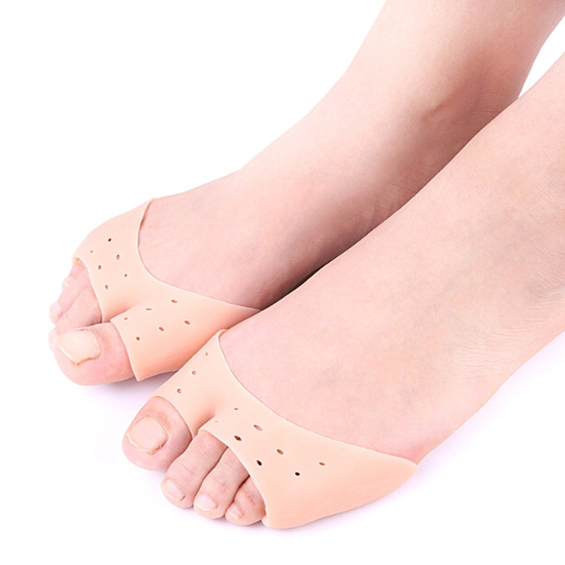 1 Pair Silicone Gel Foot Fingers Toe Separator Hallux Valgus Massager Feet Care Tools Bunion Splint Straightener Corrector