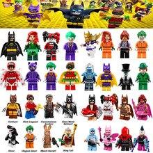 For Fairy Batman Joker Movie Freeze Poison Lvy Harley Quinn Calendar Barbara Gordon Penguin Riddler Figures Building Blocks Toys(China)