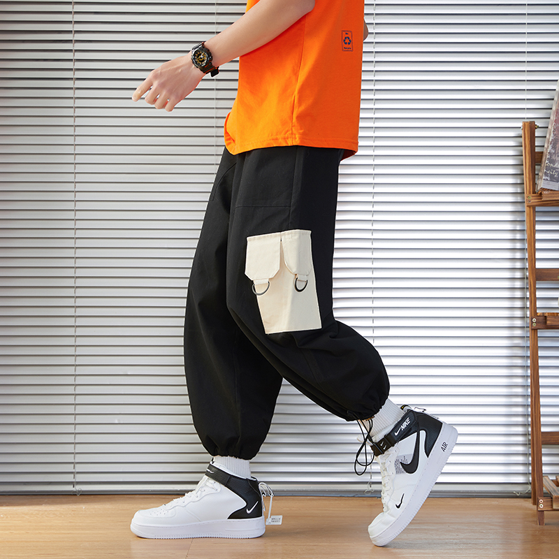 Nice New Style Men Jogger Trousers Summer Hip Hop Harem Pants Fashion Pockets Straight Streetwear Ankle-Length Male Sweatpants