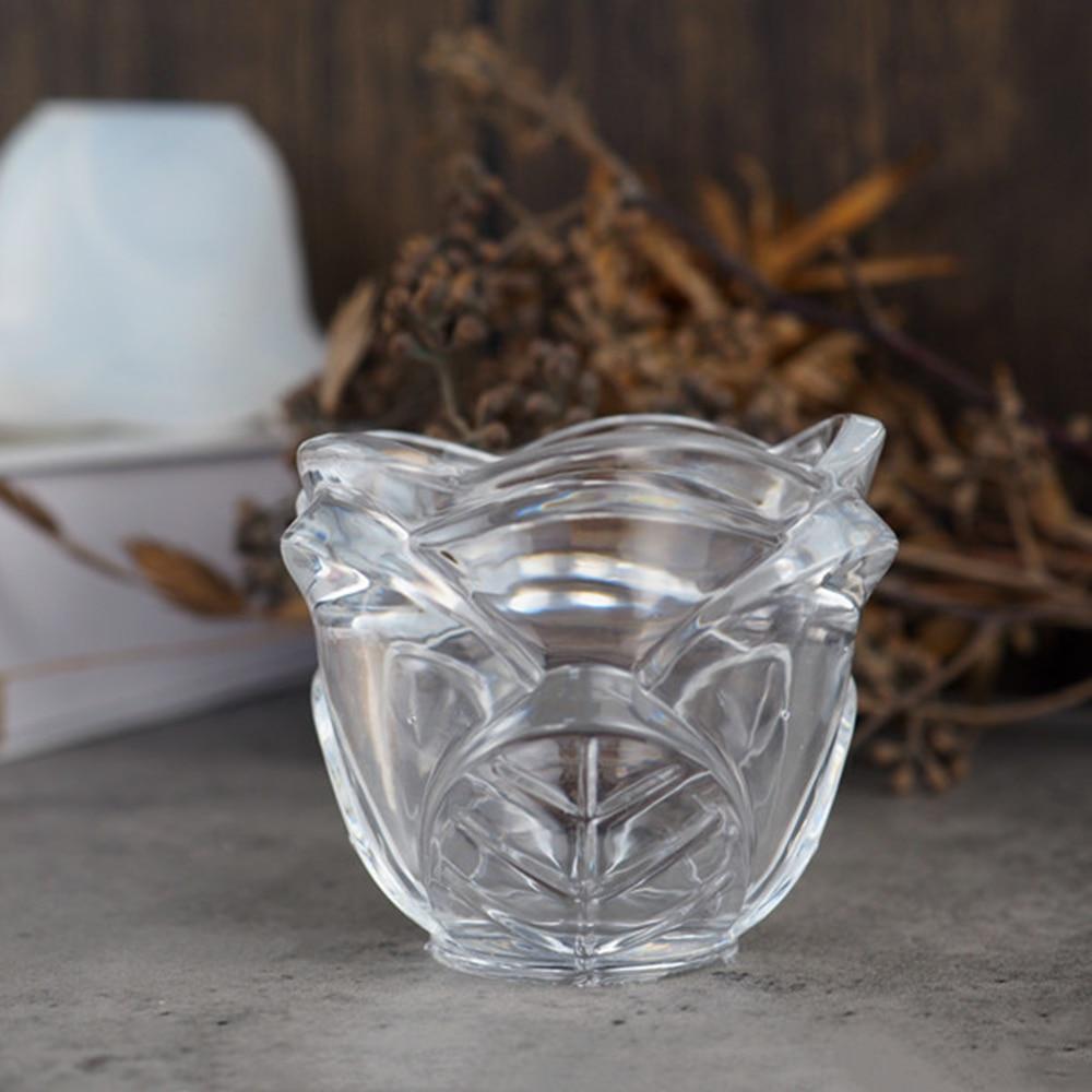 Rose Silikon Teelicht Kerzenhalter Tasse Form Harz Guss Aschenbecher Epoxid Tool