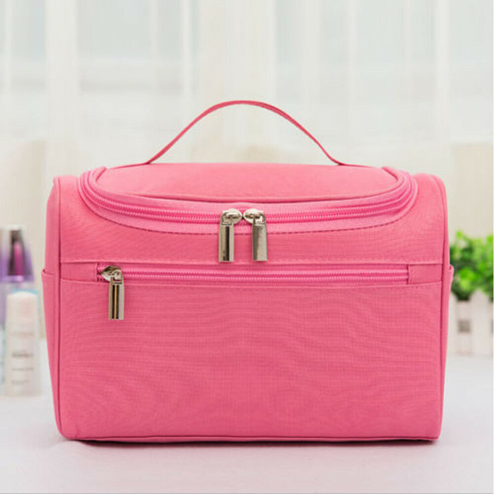 Organizer Makeup-Bag Cosmetic-Case Storage-Handle Travel-Kit Professional Large Stock title=