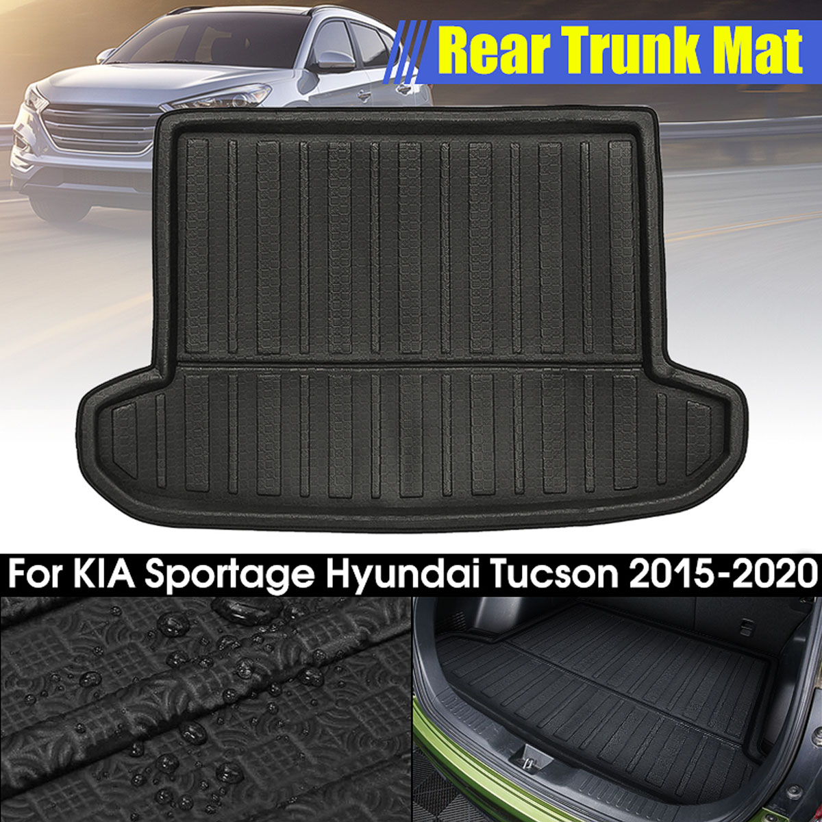 Boot Liner Cargo Floor Mat Pads For KIA Sportage R 2011-2015 Car Rear Trunk Mat