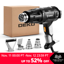 DEKO Heat-Gun Power-Tool Four-Nozzle Advanced Electric Attachments 3-Temperatures 2000W